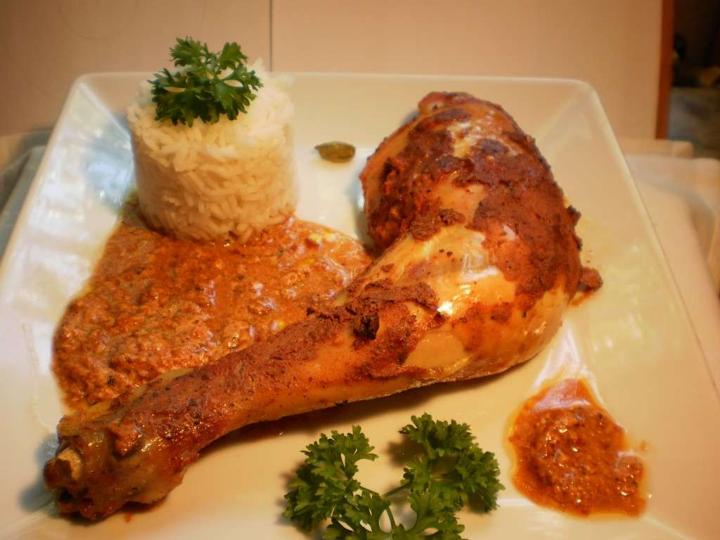 pollo al curry rojo