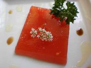 Gelatina de agua de tomate