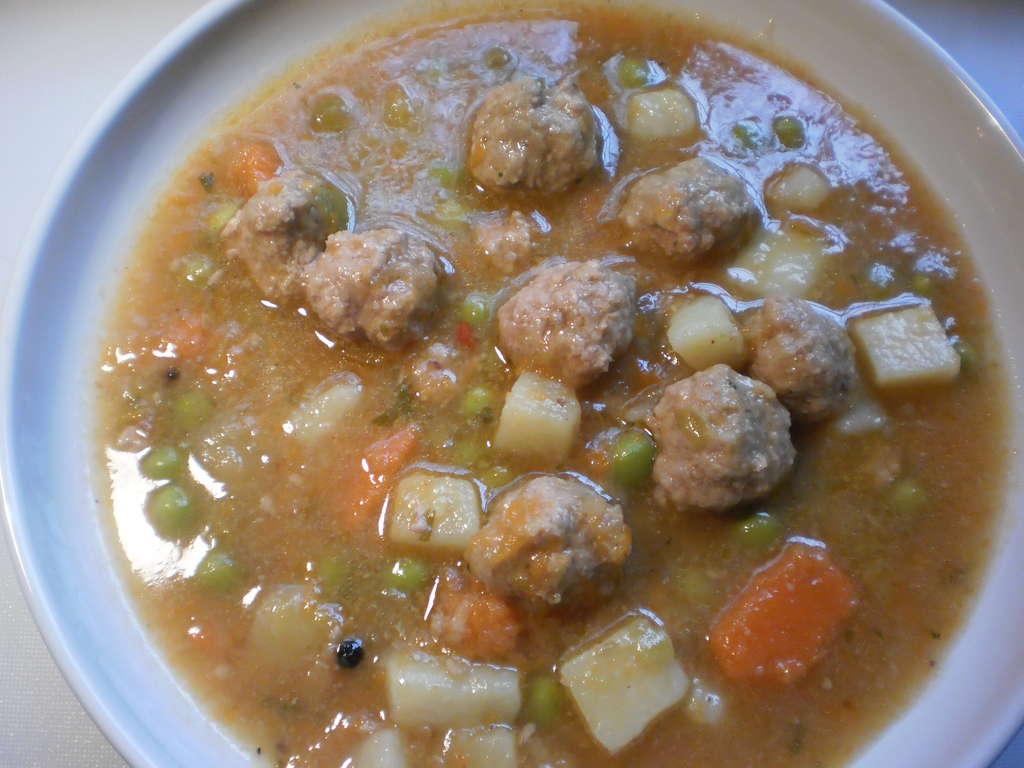 Sopa de verduras y albondigas receta cocina y aficiones for Albondigas de verduras