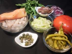 ingredientes de la ensalada nordica