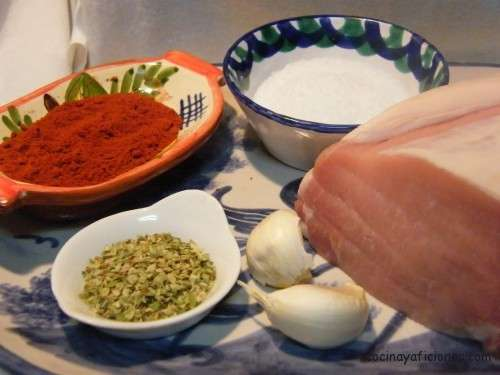 ingredientes lomo adobado