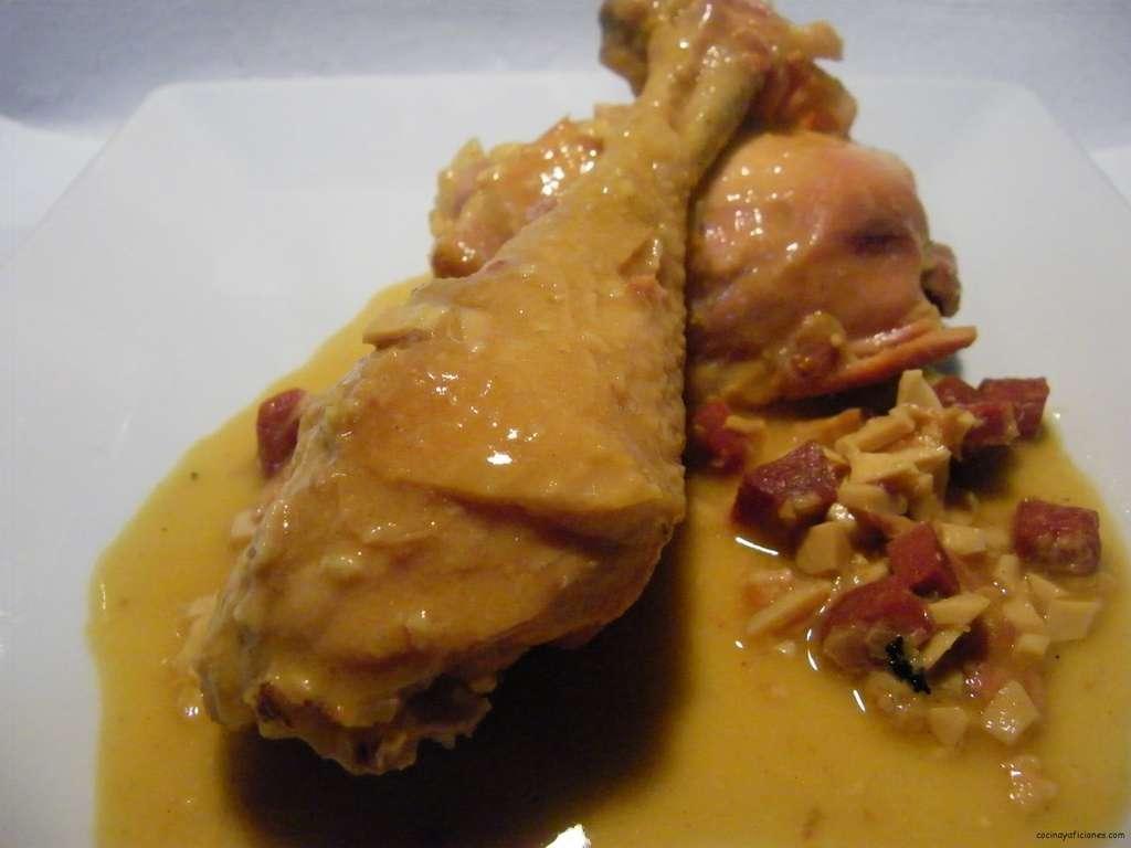Pollo de corral en pepitoria receta cocina y aficiones - Pollo de corral guisado ...