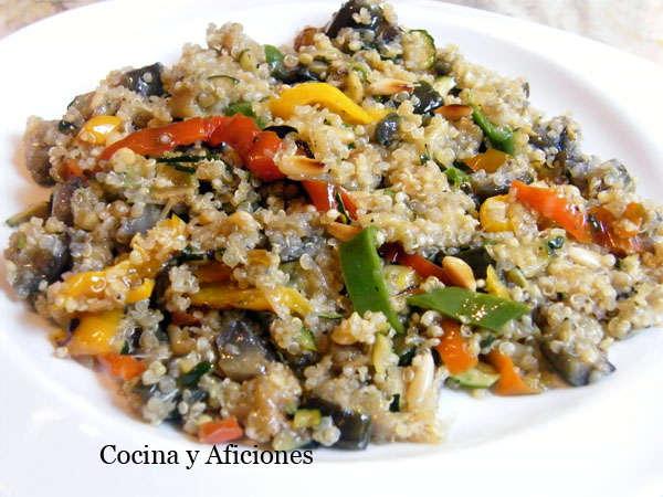 Qu noa con verduras y setas sitake receta cocina y for Cocina quinoa con verduras